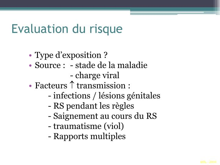 Evaluation du risque
