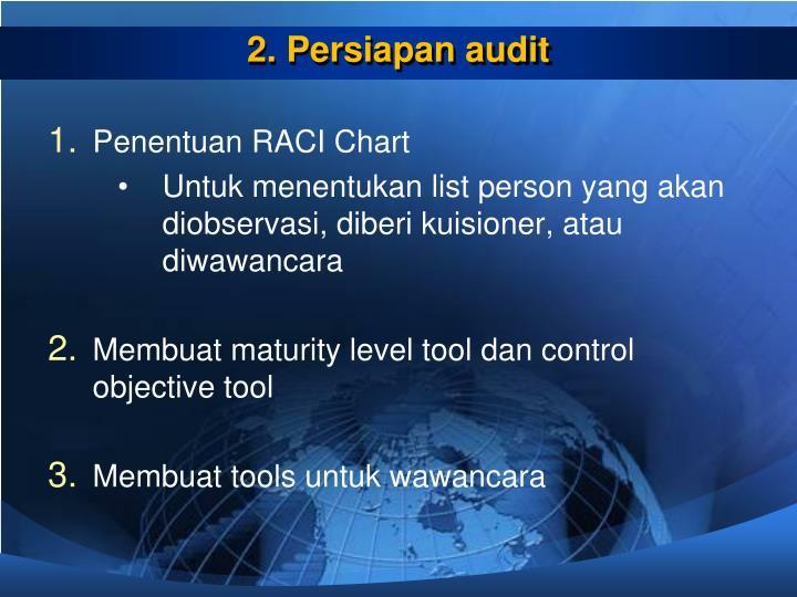2. Persiapan audit