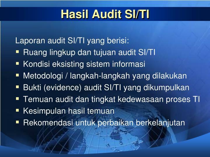 Hasil Audit SI/TI