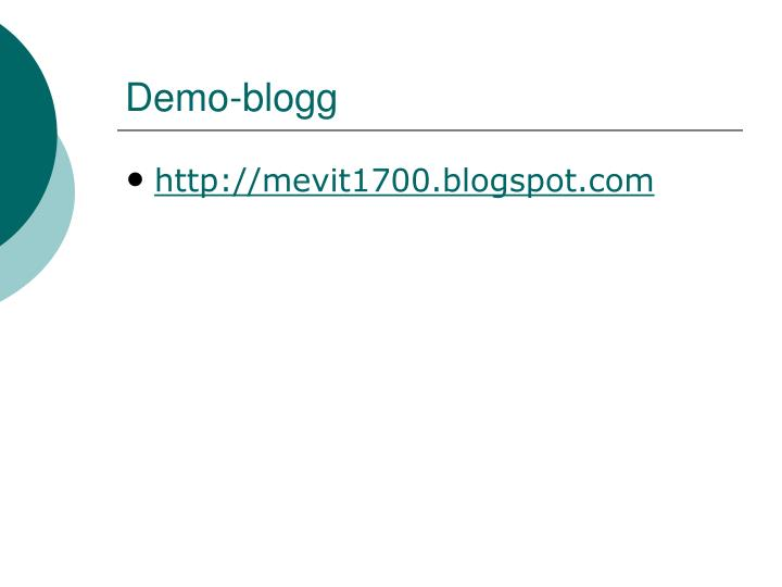 Demo-blogg