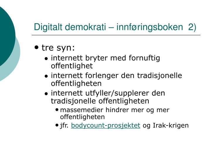 Digitalt demokrati – innføringsboken  2)