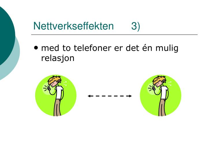 Nettverkseffekten      3)