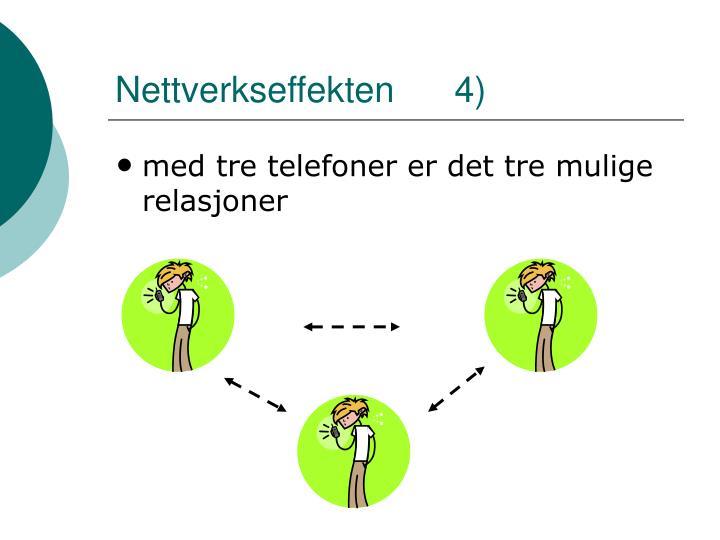 Nettverkseffekten      4)