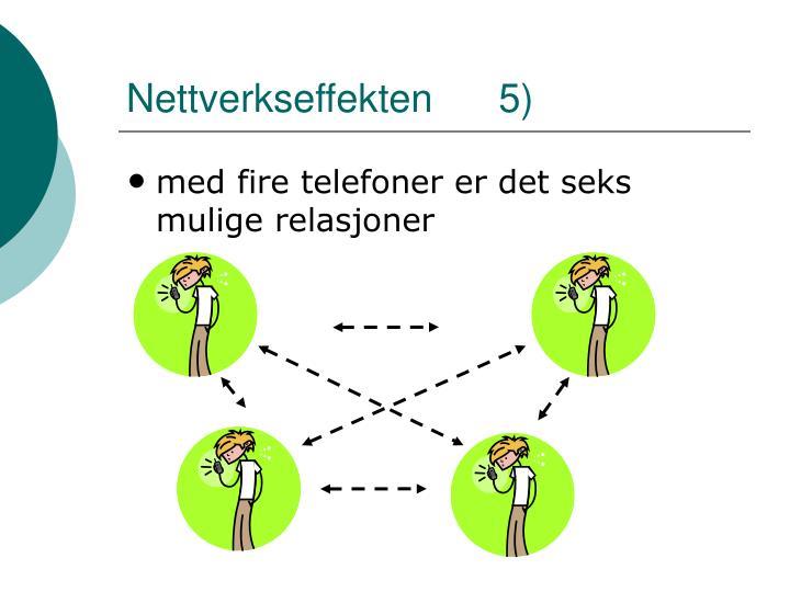 Nettverkseffekten      5)