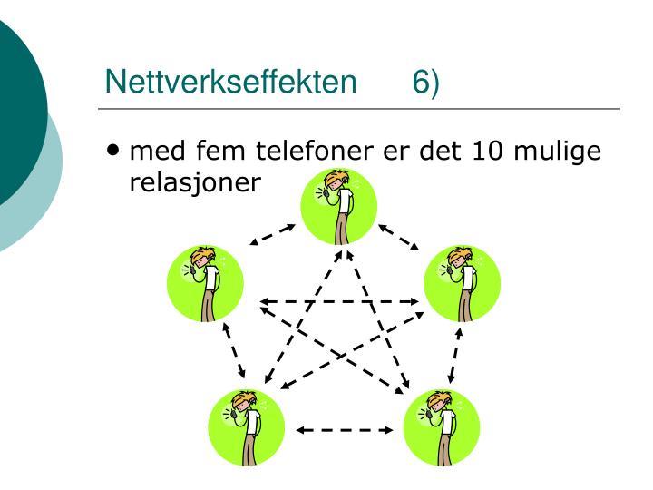 Nettverkseffekten      6)