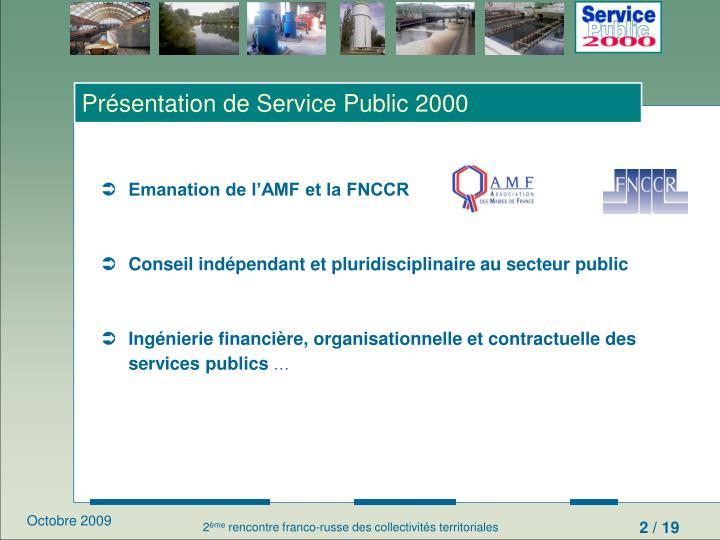 Présentation de Service Public 2000