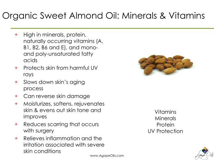 Organic Sweet Almond Oil: Minerals & Vitamins