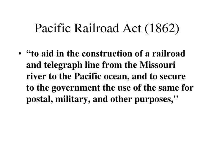 Pacific Railroad Act (1862)