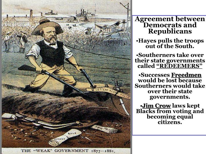 Agreement between Democrats and Republicans