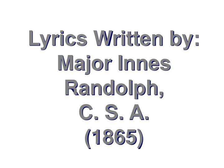 Lyrics Written by: