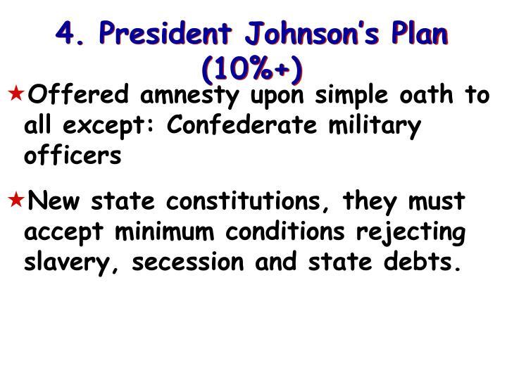 4. President Johnson's Plan (10%+)