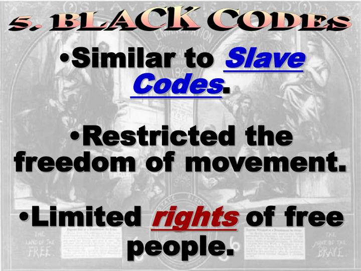 5. BLACK CODES