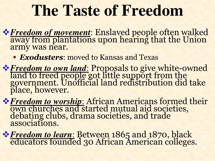 The Taste of Freedom