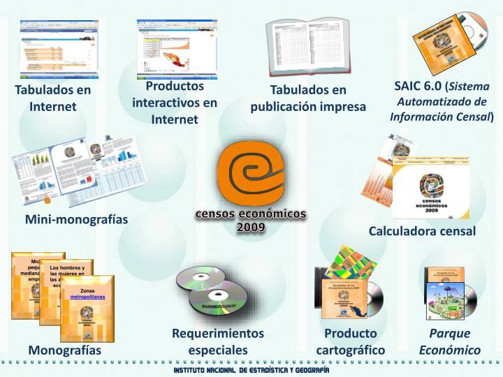 Productos interactivos en Internet