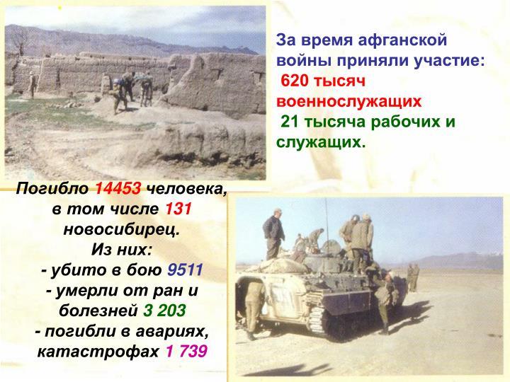 За время афганской войны приняли участие: