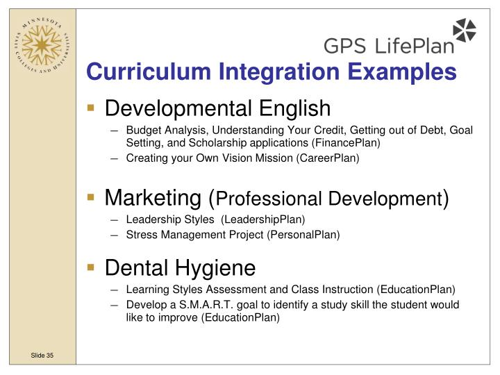 Curriculum Integration Examples