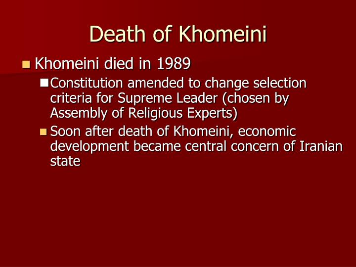 Death of Khomeini