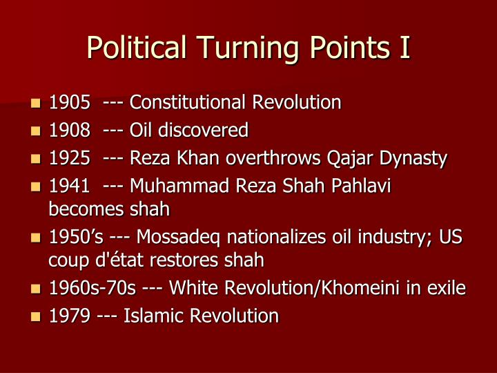 Political Turning Points I