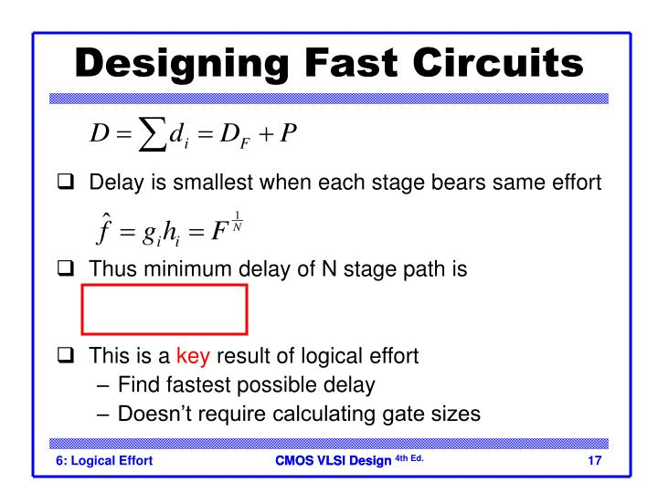 Designing Fast Circuits