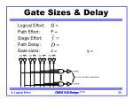 gate sizes delay