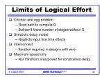 limits of logical effort