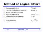 method of logical effort
