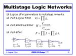 multistage logic networks