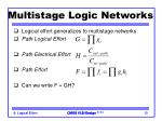 multistage logic networks1