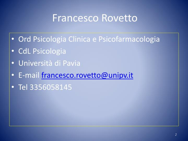 Francesco Rovetto