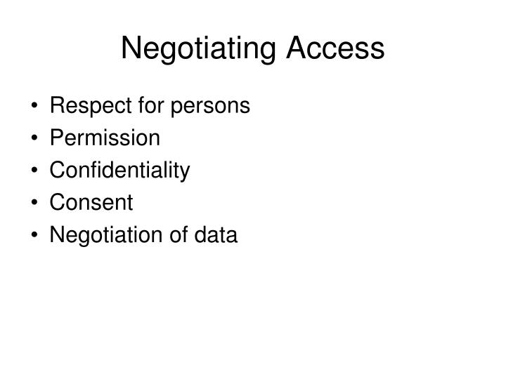Negotiating Access