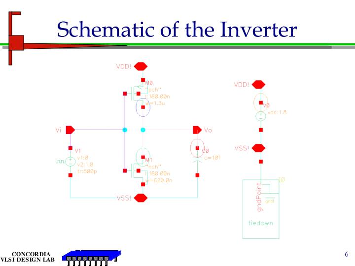 Schematic of the Inverter