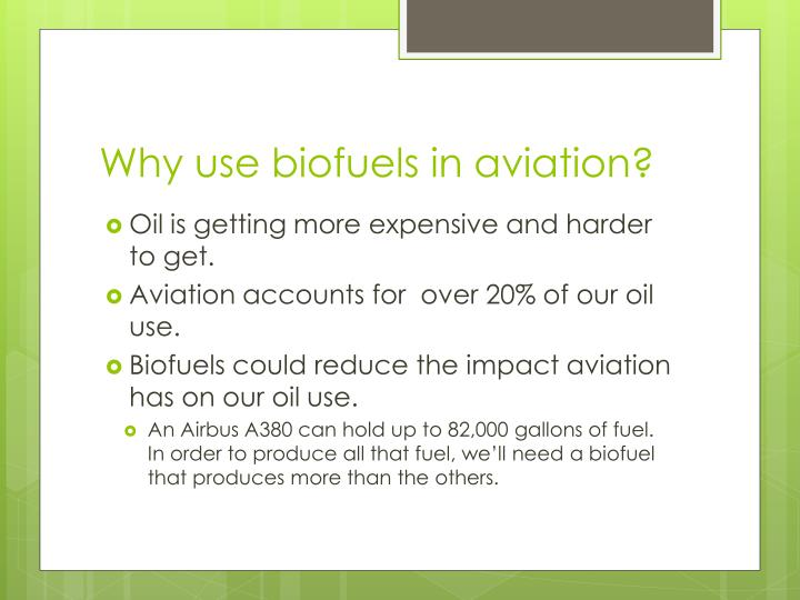 Why use biofuels in aviation?