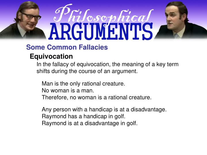 Some Common Fallacies