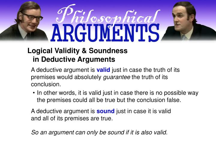 Logical Validity & Soundness