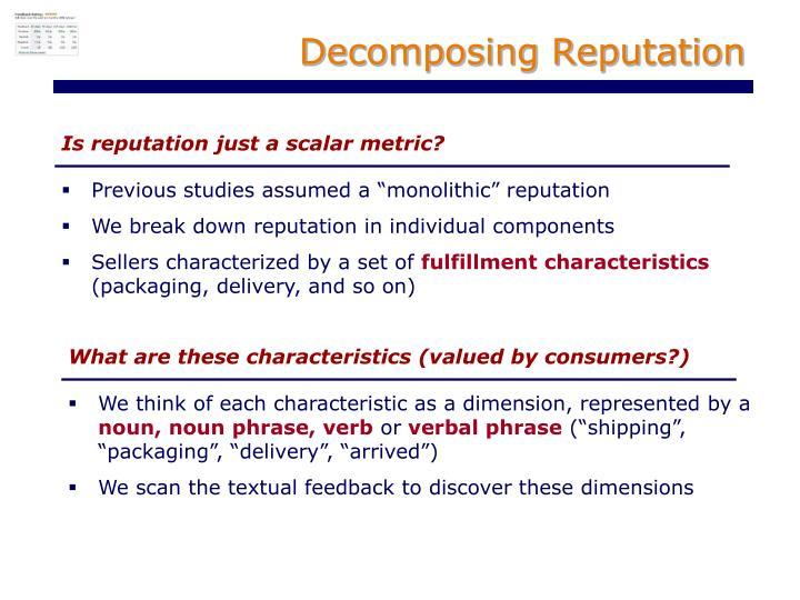 Decomposing Reputation