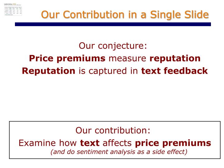 Our Contribution in a Single Slide