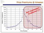 price premiums @ amazon