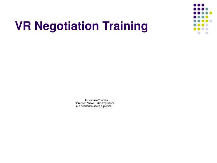 VR Negotiation Training