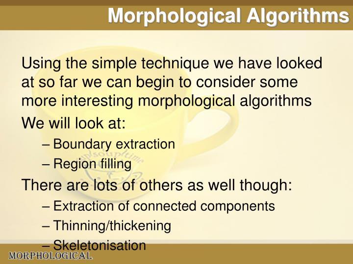 Morphological Algorithms