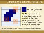 structuring elements hits fits