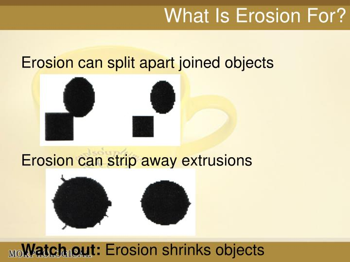 What Is Erosion For?