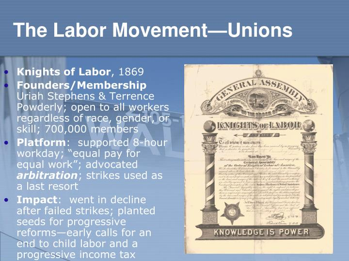 The Labor Movement—Unions