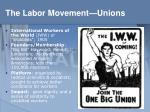 the labor movement unions3