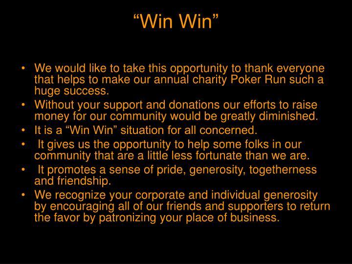 """""""Win Win"""""""