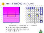 prefix sum ps ho et al 1997