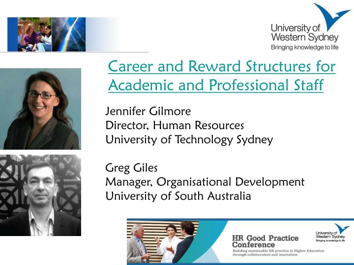 Career and Reward Structures for