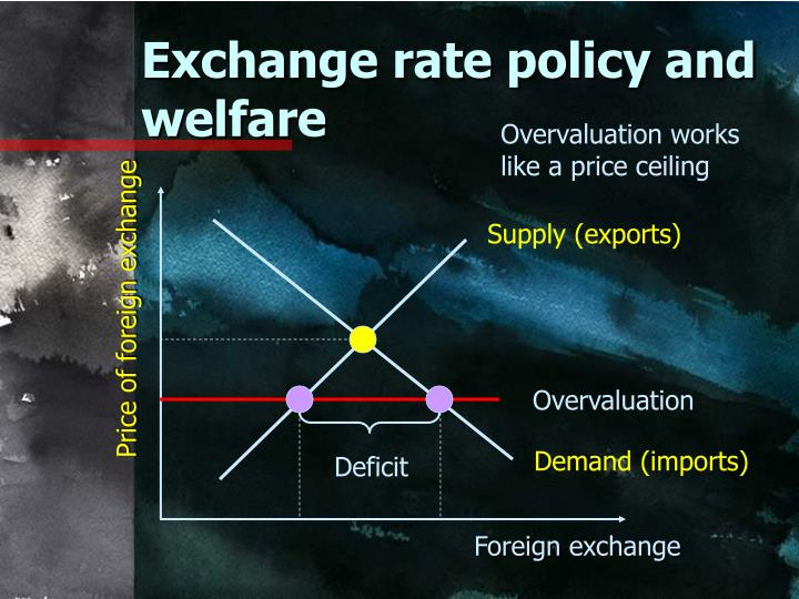Exchange rate policy and welfare