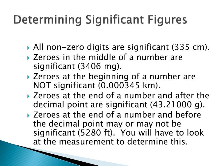 Determining Significant Figures