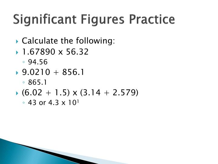 Significant Figures Practice