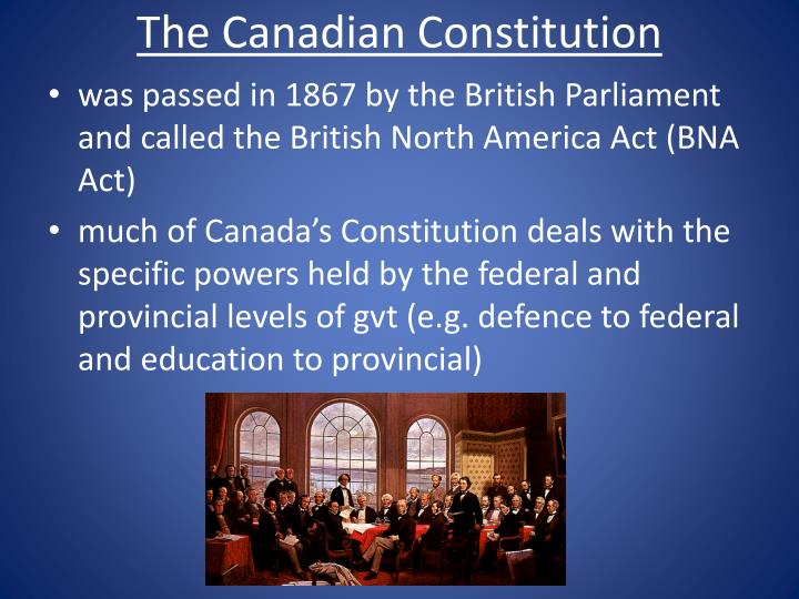 PPT - The Constitution Patriated PowerPoint Presentation ...